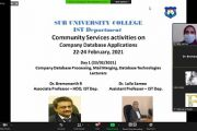 """SUC : free online workshop titled """"Company Database Applications"""""""