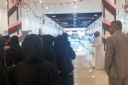 """كلية صور الجامعية : زيارة طلبة كلية صور الجامعية معرض """"صنع في عُمان"""