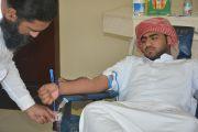 كلية صور الجامعية: حملة تبرع بالدم بكلية صور الجامعية